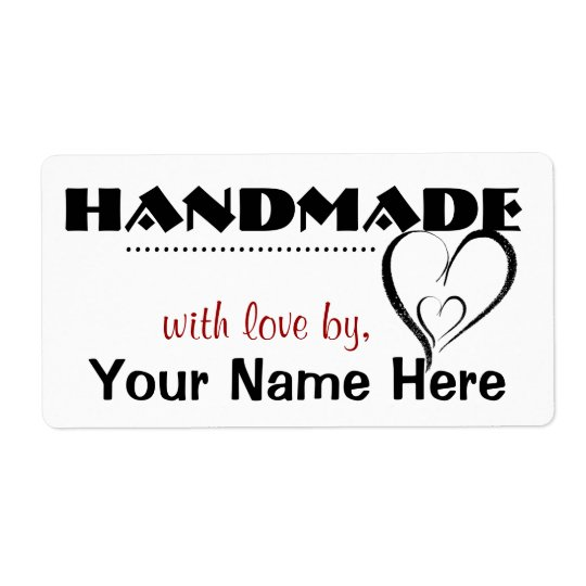 Handmade By You Custom Labels