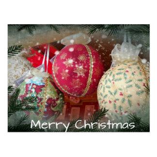 Handmade Christmas Ornaments Postcard