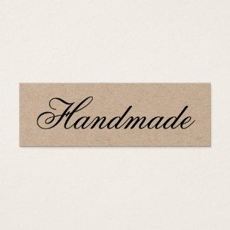 Handmade elegant vintage brown kraft business card