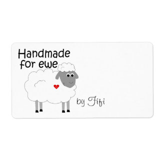 Handmade for Ewe Gift Label Shipping Label
