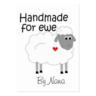 Handmade for Ewe - hangtag/ flat giftcard Large Business Card