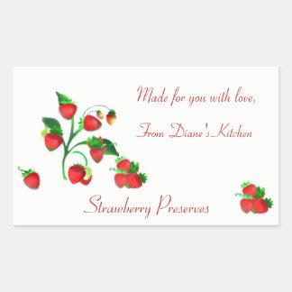 Handmade for You Farmer's Market Strawberry Label
