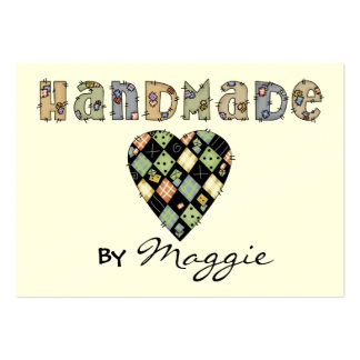 """Handmade"" Gift Enclosure Card / Tag by SRF Large Business Card"