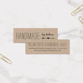Handmade Heart   Rustic Kraft Mini Business Card