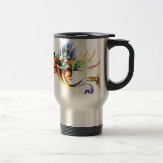 Handmade Ink Drawing of Lord Krishna Travel Mug