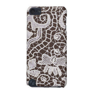 Handmade Lace on Brown Background iPod Touch (5th Generation) Case