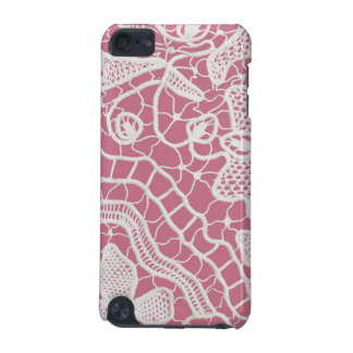 Handmade Lace on Pink Background iPod Touch (5th Generation) Cases