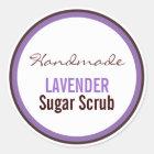 Handmade Lavender Sugar Scrub Classic Round Sticker