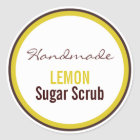 Handmade Lemon Sugar Scrub Classic Round Sticker