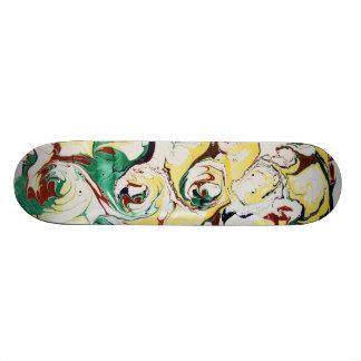 Handmade Marbled Flowers Skate Boards