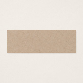 Handmade minimalist elegant kraft business card