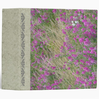 Handmade Paper Sweet Peas Avery Binder