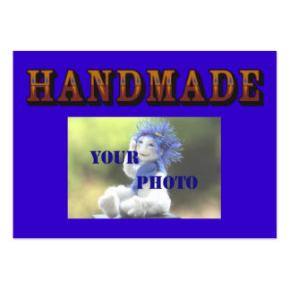 Handmade - ready to customize 2 large business card