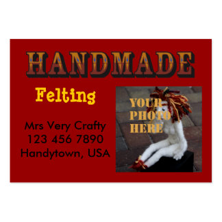 handmade - ready to customize large business card