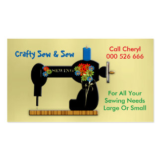 Handmade Sewing Repairs Dressmaker Business Card