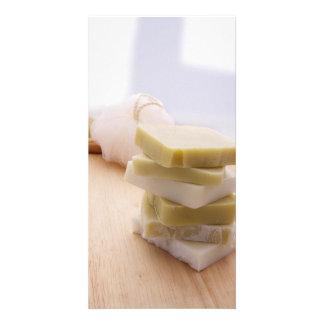 Handmade Soap 2 Custom Photo Card