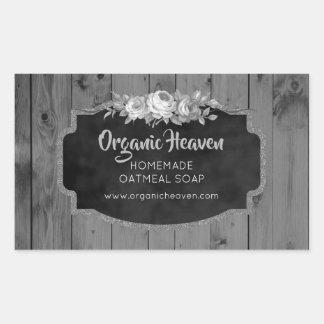 Handmade Soap Rustic Grey Wood Product Label