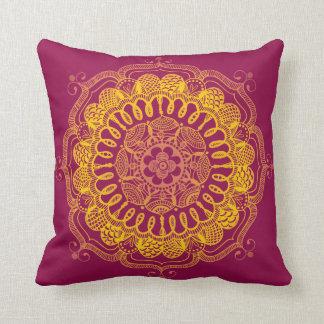 Handmade Traditional Mandala Square Pillow