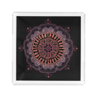 Handmade Traditional Mandala Square Serving Tray