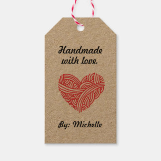 Handmade with Love / Care Instructions Crafts Pack Of Gift Tags