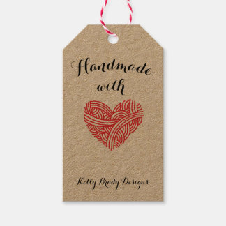 Handmade with Love Fiber Artist Pack Of Gift Tags