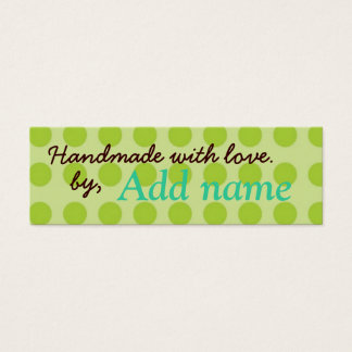 Handmade with Love Lable Mini Business Card