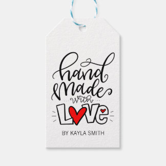 HANDMADE WITH LOVE PACK OF GIFT TAGS