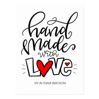 HANDMADE WITH LOVE, POSTCARD