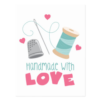 Handmade with Love Postcard