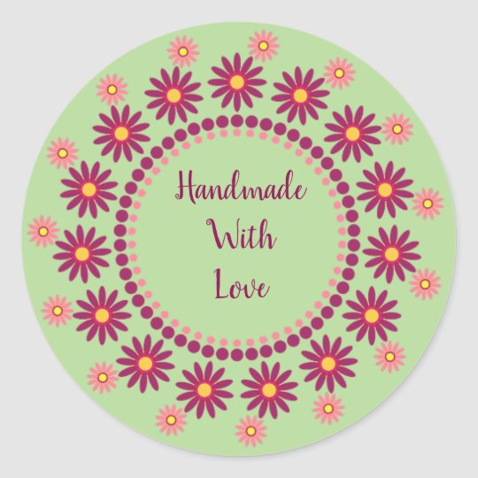 Handmade With Love Stickers