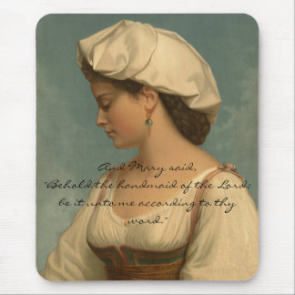 HANDMAID OF THE LORD MOUSE PAD