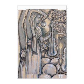 """Handmaiden of Zeus With Violin""  painting Acrylic Print"
