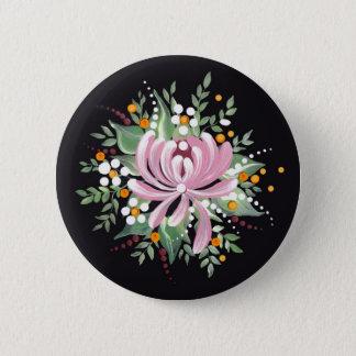 Handpainted Chrysanthemum 2 Inch Round Button
