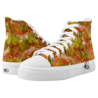 Handpainted Colorful Abstract Pattern Hightops High Tops