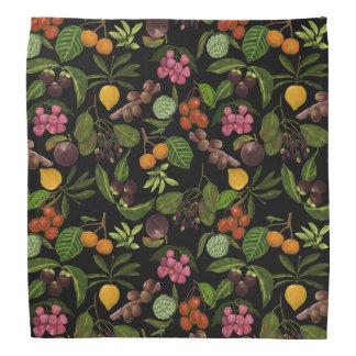 Handpainted Colorful Exotic Tropical Fruit Pattern Bandana