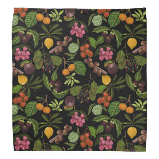 Handpainted Colorful Exotic Tropical Fruit Pattern Do-rags