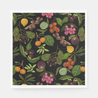 Handpainted Colorful Exotic Tropical Fruit Pattern Paper Napkin