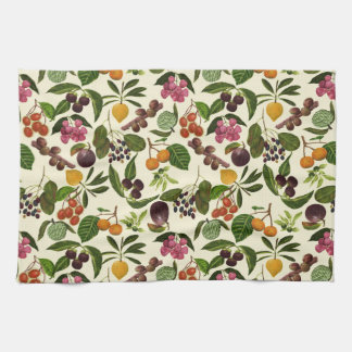 Handpainted Exotic Tropical Fruits Pattern Kitchen Towel
