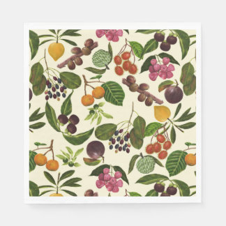 Handpainted Exotic Tropical Fruits Pattern Paper Napkin