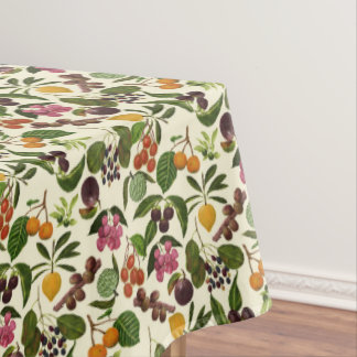 Handpainted Exotic Tropical Fruits Pattern Tablecloth