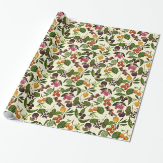 Handpainted Exotic Tropical Fruits Pattern Wrapping Paper