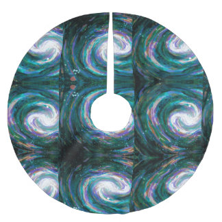 Handpainted Galaxy Brushed Polyester Tree Skirt