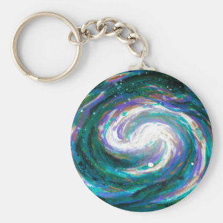 Handpainted Galaxy Keychain
