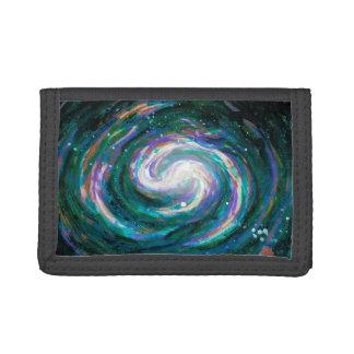 Handpainted Galaxy Tri-fold Wallet