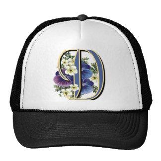 Handpainted Pansy IInitial - D Trucker Hat