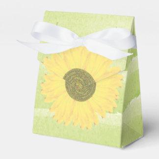 Handpainted Watercolor Sunflower Green Baby Shower Favor Box