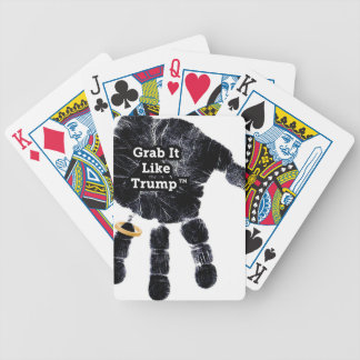 Handprint Design with Ring with Grab it like Trump Bicycle Playing Cards