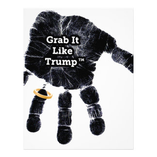 Handprint Design with Ring with Grab it like Trump Letterhead