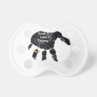 Handprint Design with Ring with Grab it like Trump Pacifier