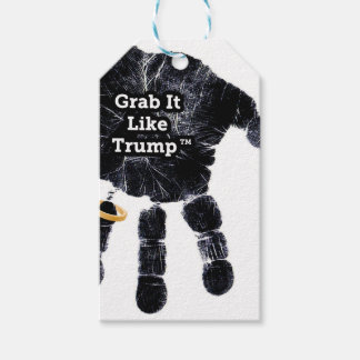 Handprint Design with Ring with Grab it like Trump Pack Of Gift Tags